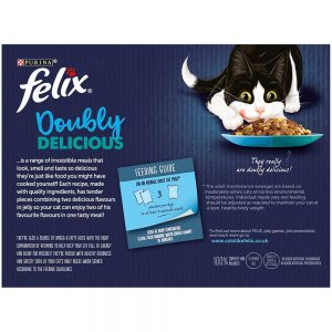 FELIX Doubly Delicious Ocean Recipes in Jelly Pouch, 12x100g