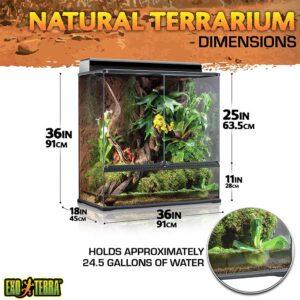EXO TERRA X-Tall Glass Terrarium, Large