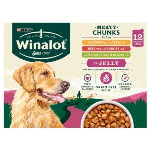 WINALOT Grain Free Meaty Chunks, Multipack 12x100g