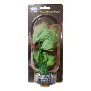 BETTA Silk Green Plant for Aquarium, 20cm