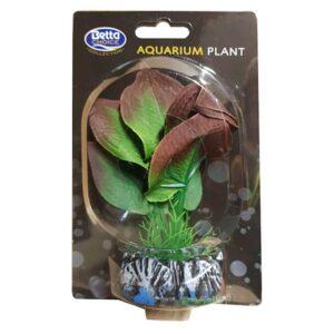 BETTA Silk Green Plant for Aquarium, 13cm