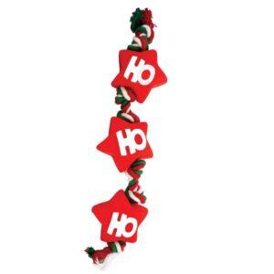 HAPPY PET Festive Vinyl Rope Dog Toy
