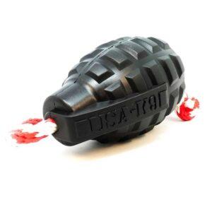 USA K-9 Magnum Grenade Durable Treat Dispenser Toy, Black