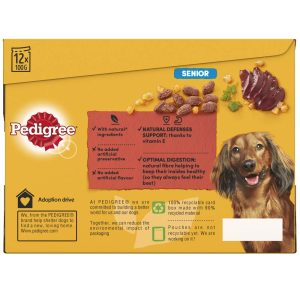PEDIGREE Mixed Selection Senior Pouch, 12x100g