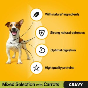 PEDIGREE Mixed Selection with Carrots in Gravy Pouch, Megapack 40 for the price of 36