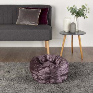 SCRUFFS Velvet Cat Bed, Purple