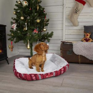 SCRUFFS Santa Paws Box Bed